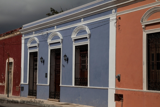 Renovated facades in Colonia Santiago, Mérida, Yucatán